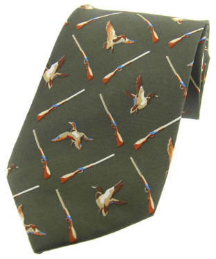 Men's Soprano Country Green Flying Ducks Tie - Country Green