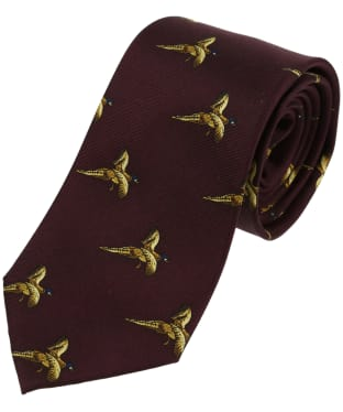 Men's Soprano Flying Pheasant Country Tie - Wine
