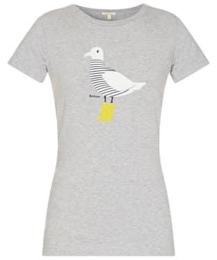 Women's Barbour Avonmouth T-Shirt - Light Grey Marl