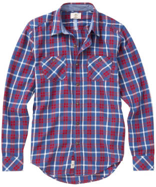 Men's Timberland Warner River Flannel Shirt - Dutch Blue