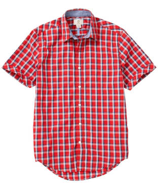 Men's Timberland Lane River Check Poplin Shirt - True Red