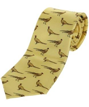 Men's Soprano Standing Pheasants Tie - Pastel Yellow