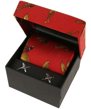 Soprano Pheasant Tie and Cufflinks Gift Set