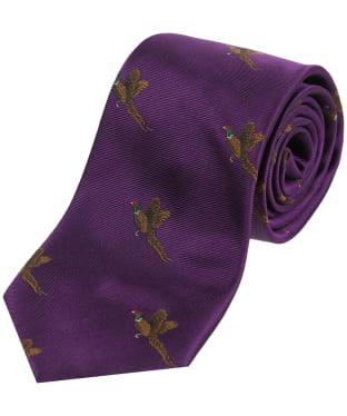 Men's Soprano Small Pheasants Tie - Purple