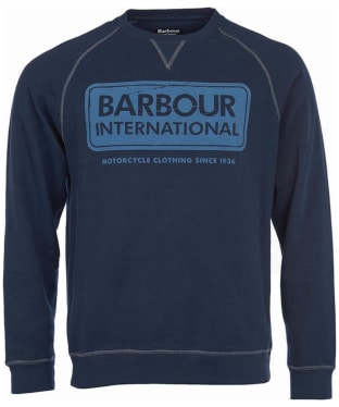 Men's Barbour International Logo Sweater - Navy