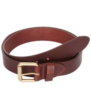 Barbour Matt Leather Belt - Matt Brown