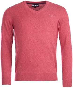 Men's Barbour Pima Cotton V-Neck Sweater - Candy Marl