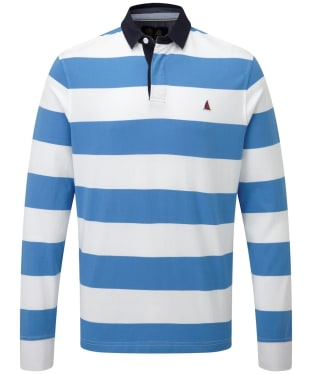 Men's Musto Edward Stripe Rugby Shirt - Regal Blue / Bright White