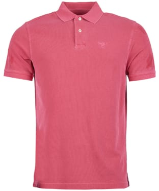 Men's Barbour Washed Sports Polo - Fuchsia