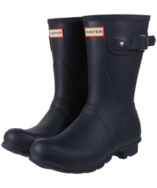 Women's Hunter Original Short Wellington Boots - Navy