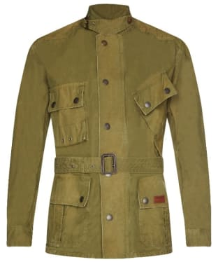 Men's Barbour International Washed Geelong Casual Jacket - Moss