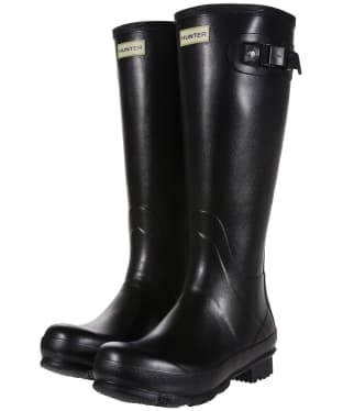 Men's Hunter Norris Field Wellington Boots - Black