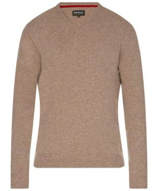 Men's Barbour Harrow V Neck Sweater - Military Brown