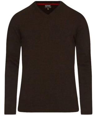 Men's Barbour Harrow V Neck Sweater - Dark Brown