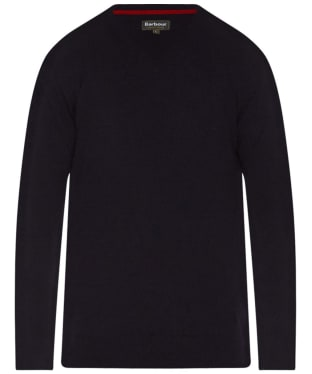 Men's Barbour Harrow V Neck Sweater - Dark Navy