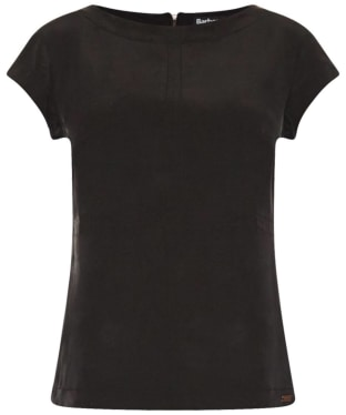 Women's Barbour International Silk Shadow T-Shirt - Black