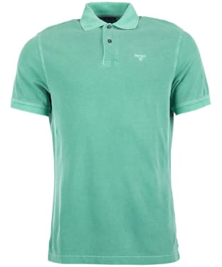 Men's Barbour Washed Sports Polo - Turf