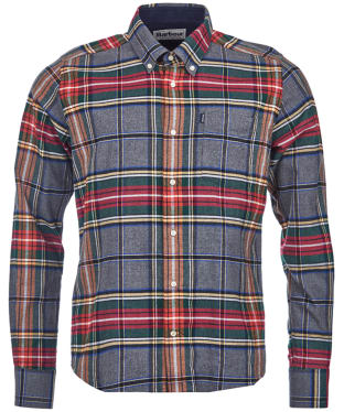 Men's Barbour Highland Check 13 Tailored Shirt - Grey Marl Check