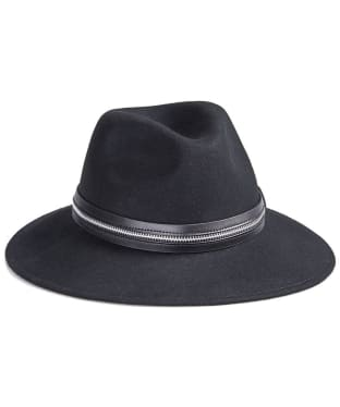 Women's Barbour International Falcone Fedora Hat - Black