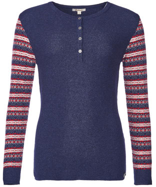 Women's Barbour Landry Sweater - Naval Blue