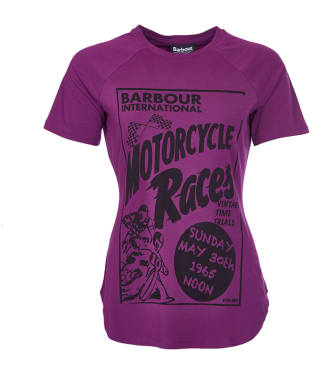Women's Barbour International Springer Scoop Tee - Bitterberry