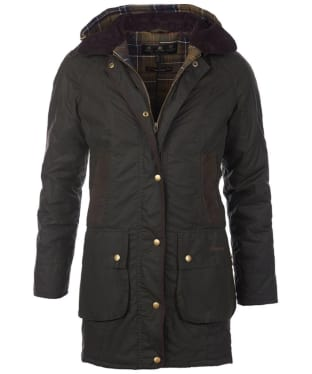 Women's Barbour Bower Wax Jacket - Olive