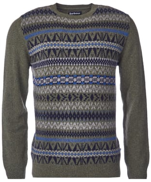 Men's Barbour Kniver Fairisle Crew Neck Sweater