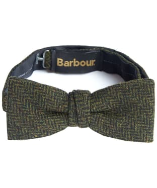 Men's Barbour Tweed Bow Tie - Green Herringbone