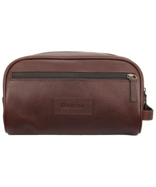 Barbour Leather Washbag - Brown
