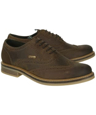 Men's Barbour Redcar Oxford Brogues - Dark Brown