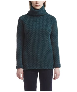 Women's Aigle Macdom Honeycomb Roll Neck - Spruce