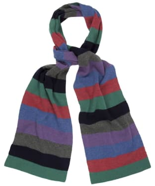 Men's Hackett Multi Horizontal Stripe Scarf - Multi