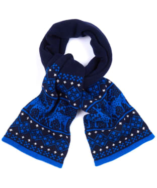 Boys Barbour Keaton Stag Scarf - Bright Blue