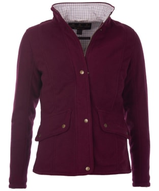 Women's Barbour Sinderhope Waterproof Fleece - Bordeaux