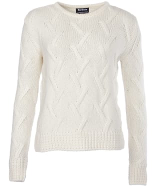 Women's Barbour X Land Rover Ratio Cable Knit Sweater - Vanilla