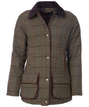 Women's Barbour Carter Wool Jacket - Olive