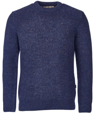 Men's Barbour New Tyne Crew Neck Sweater - Denim