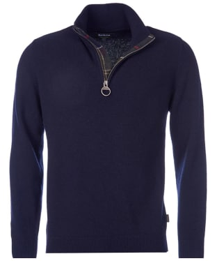 Men's Barbour Holden Half Zip Sweater - Navy