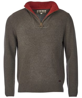 Men's Barbour Nelson Half Zip Sweater - Seaweed