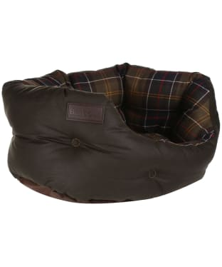 "Barbour Wax Cotton Dog Bed 18"" - Classic / Olive"