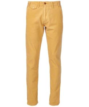 Men's Barbour Neuston Fine Cord Trousers - Mustard