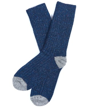 Men's Barbour Houghton Socks - Navy / Grey