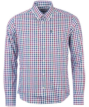 Men's Barbour Bibury Tailored Shirt - Plum Check
