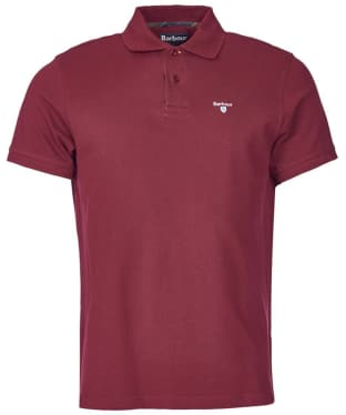 Men's Barbour Tartan Pique Polo Shirt - Ruby