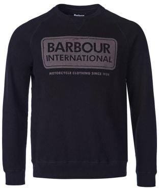 Men's Barbour International Logo Sweater - Black