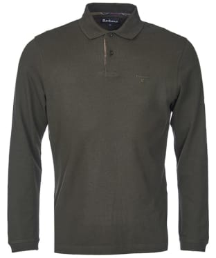 Men's Barbour Long Sleeved Sports Polo Shirt - Forest