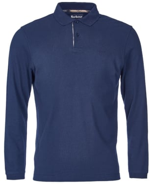 Men's Barbour Long Sleeved Sports Polo Shirt - Navy