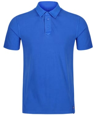 Men's Musto Canvas Collar Polo Shirt - French Blue