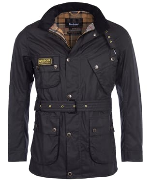 Men's Barbour International Slim International Wax Jacket - Black