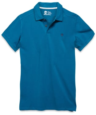 Men's Timberland SS Millers River Slim Polo Shirt - Ink Blue